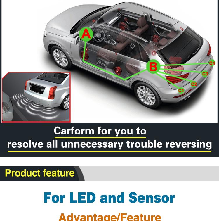Cheap pirce car reverse backup car parking sensor with led display for sale