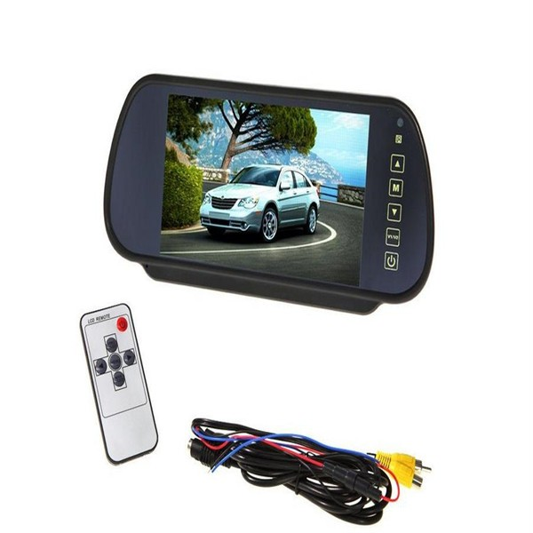 7 Inch LCD MP5 Car Rearview Mirror Monitor SD Card Support With Car Camera