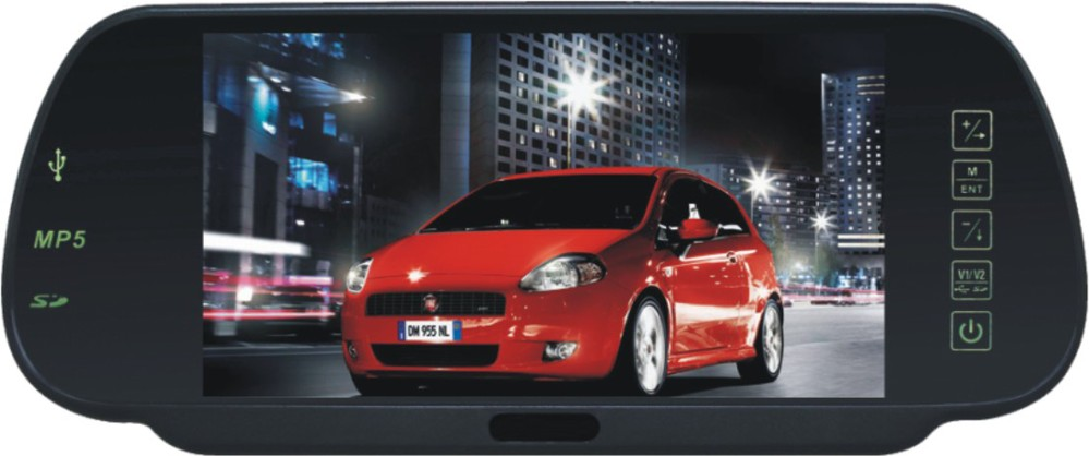 Auto electronics 7 inch car rear view mirror car mp3 player with bluetooth