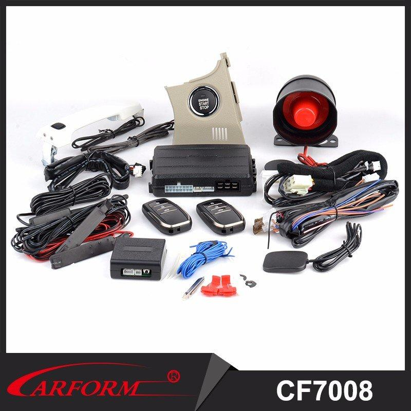 PKE Engine Start Stop System with Remote Engine Start Stop and Push button With Car Alarm Function CF7008