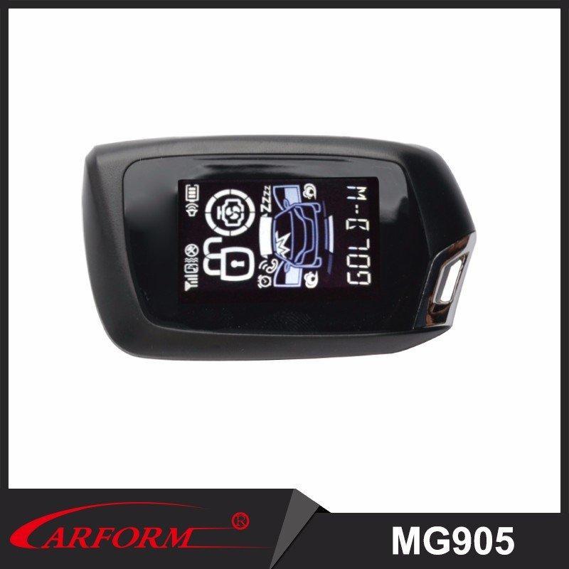 Con diálogo Código 2 forma coche sistema de alarma MG905