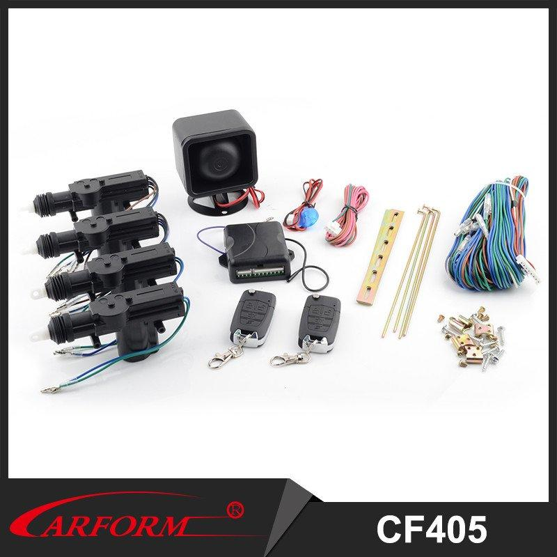 Popular car remote central locking system with trunk release, window output, two direction lights,siren and led output