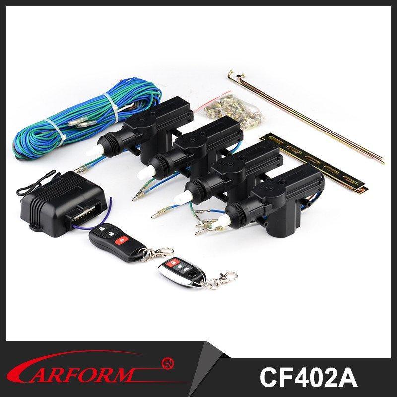 Remote car central locking system Universal design central door lock power door lock kit 4 doors, 1 master 3 slaves CF402