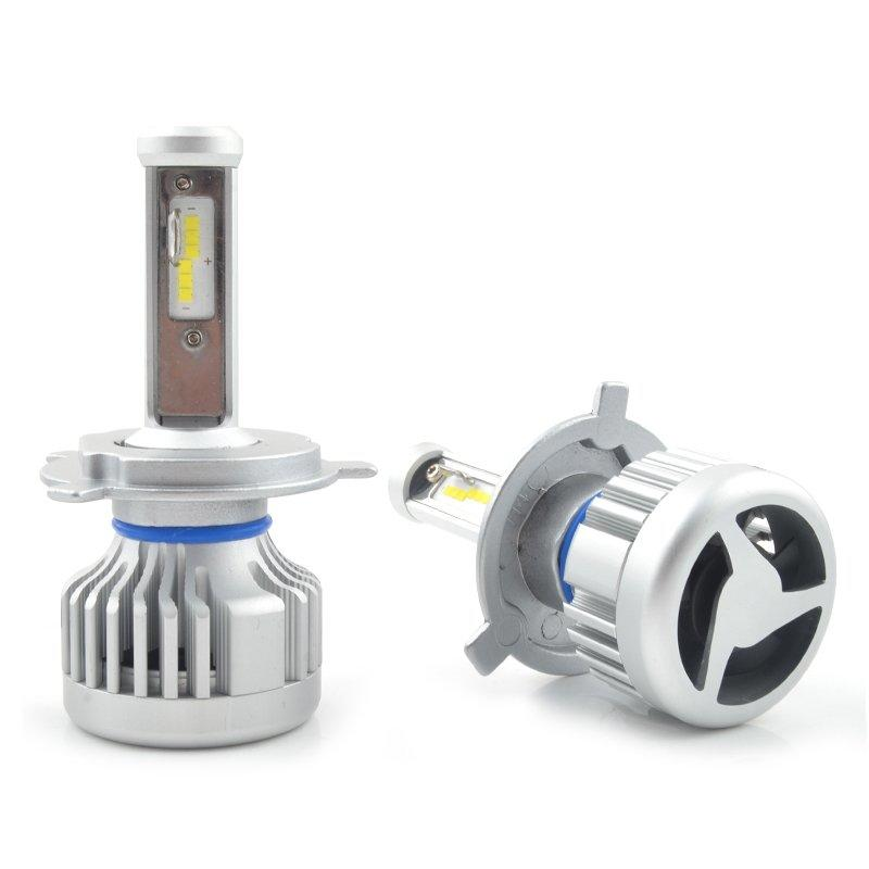 All In One Auto lighting System Front Headlight LED H4 Car Light Bulbs