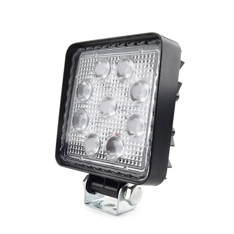 27W Off-Road LED Work Light with IP67 Waterproof Flood Beam For  Jeeps Tractor Fog Light Truck SUV Car