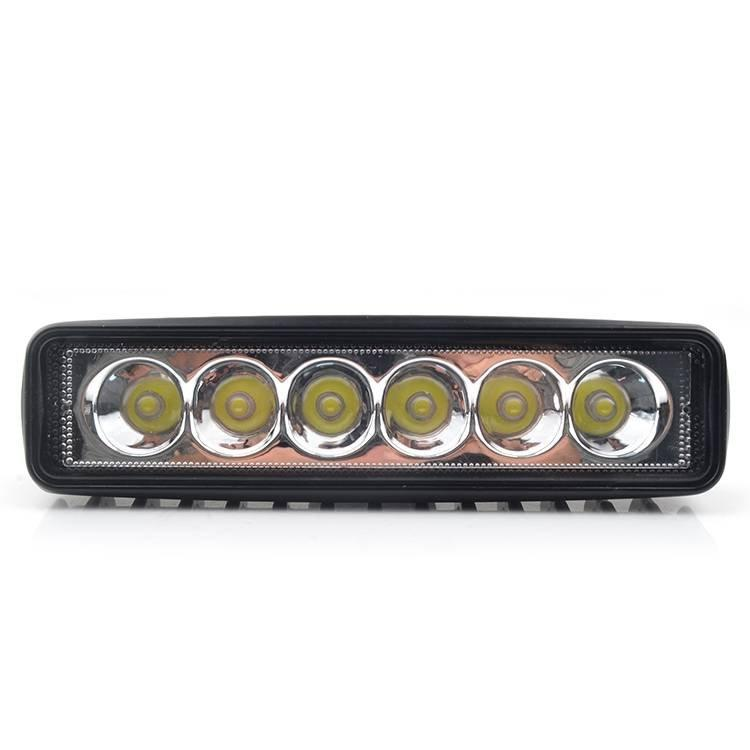 Car LED Light Bars 18w Waterproof LED Spotlights Offroad Driving LED 6500K 2700LM Extremely Bright Led Fog Lights for Jeep Cabin