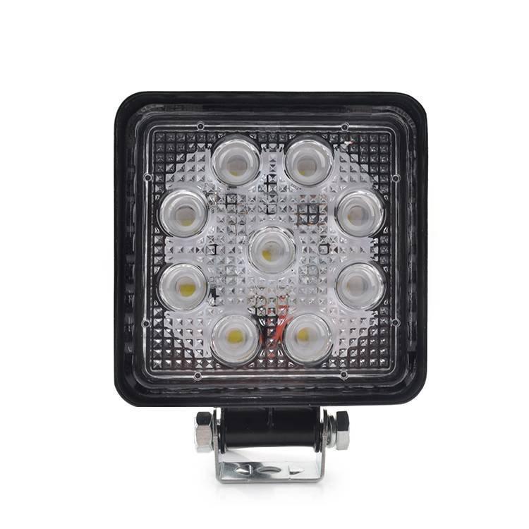 High Lumen 27W LED Spot Beam Work Light With IP67 Waterproof Function Long Lifespan