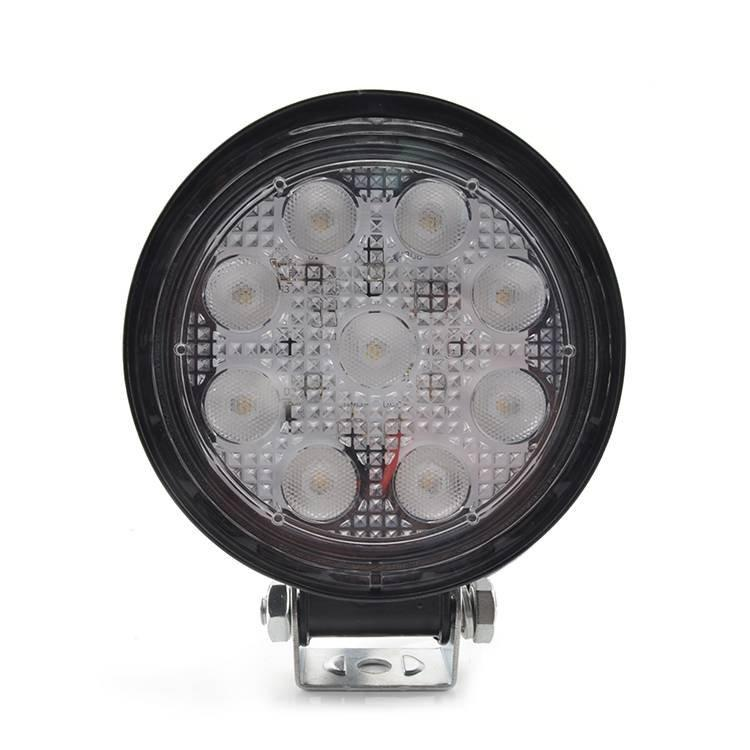LED Round 27W Working Light IP67 Waterproof Flood Beam With Super Brighter Import Chip
