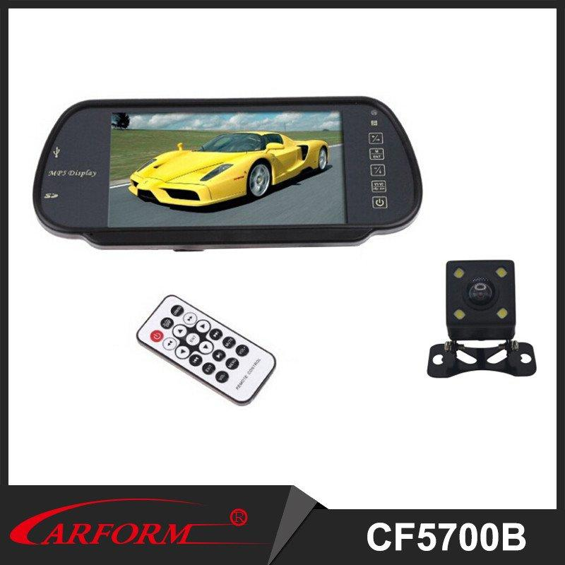 7 inche rearview with Camera, universal Parking system , Bluetooth monitor , LED night vision camera