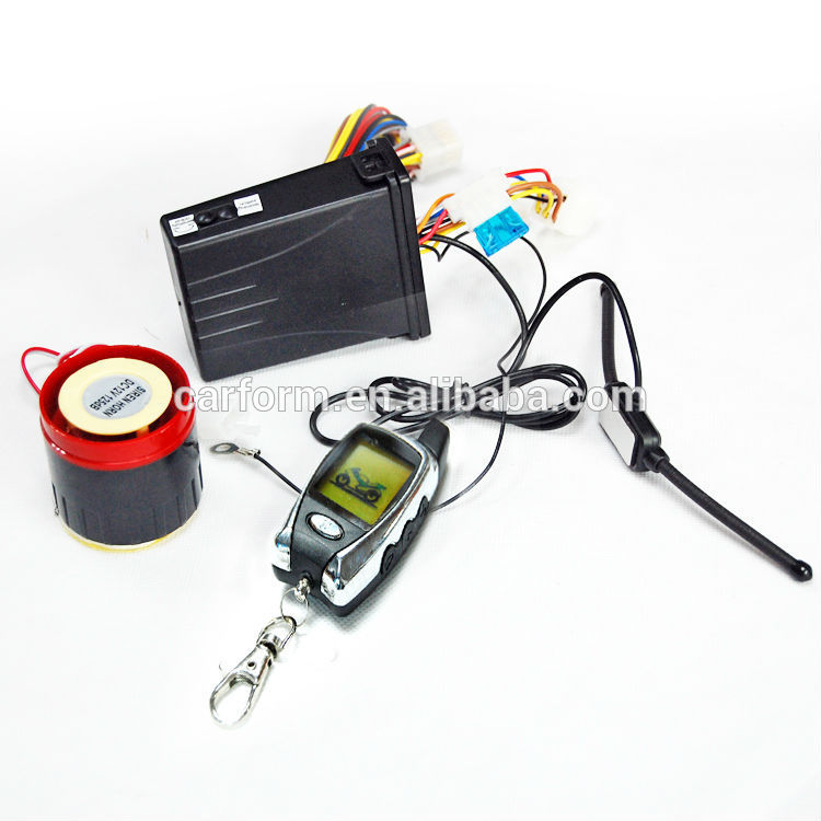 Two-Way Motorcycle Alarm System with Remote Engine Start and LCD Remote CF-MC08
