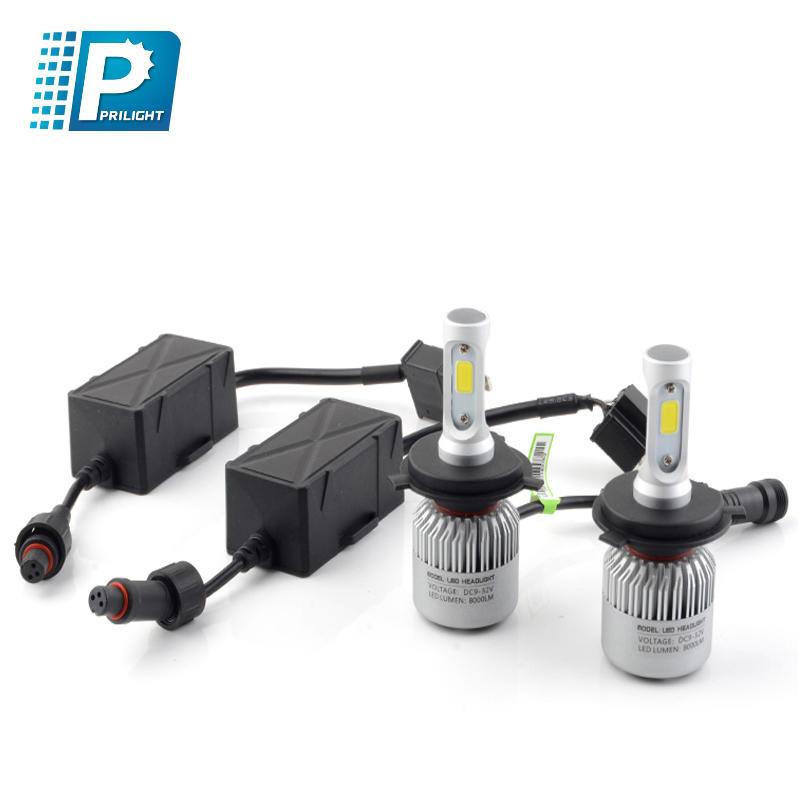High power 60W brightness car LED headlight high quality CSP chip  IP65 waterproof headlight bulbs