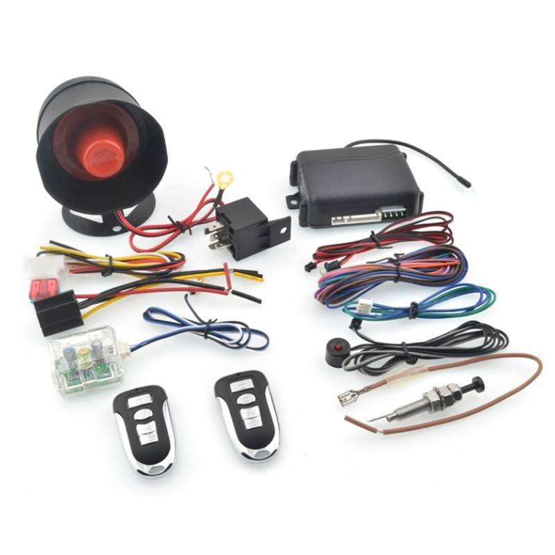 370MHZ one car alarm security system CF858 with hopping code for Latin American market