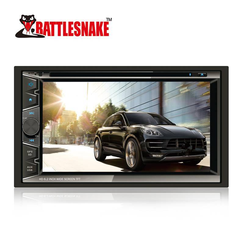 High Quality 6.2 Inch Wide Screen TFT Car Double Din DVD HD Player