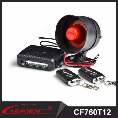 One way car alarm system 760T12 With learning code and remote control arm/disarm