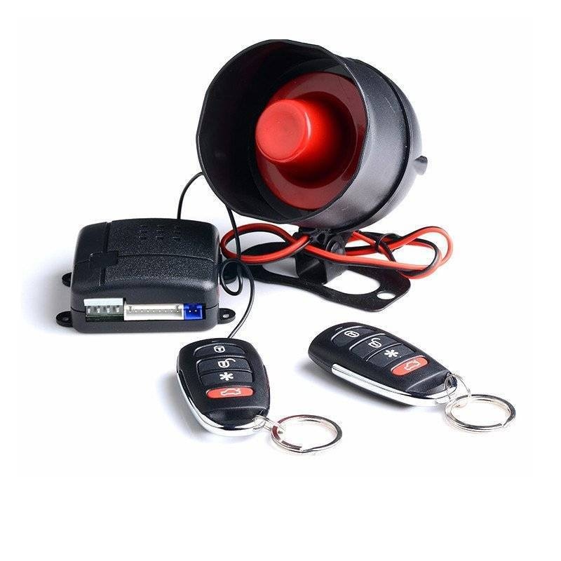 Suit for South American market car alarm CF828 system with small Mini main unit, small remote controller and shock sensor