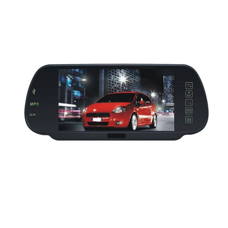 Bluetooth 7 inch rearview mirror work with camera sensors, with MP5 player, export to Latin America