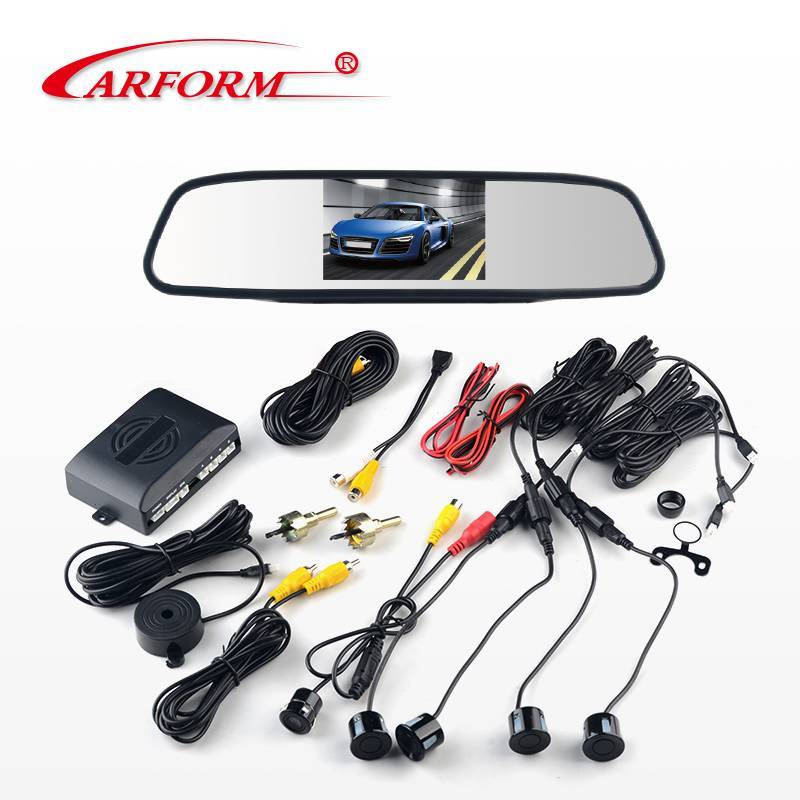 2019 Car Rear view parking sensor system CF5400RS, 4.3 inch color monitor with LED camera for 12V car