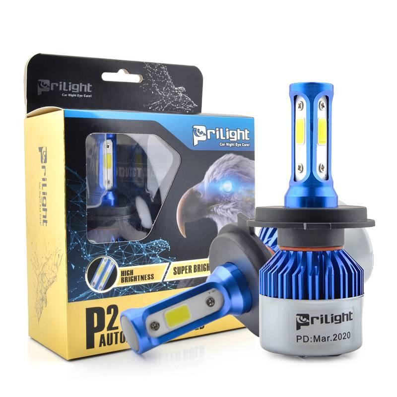 72W high power LED HEADLIGHT H4 H7 H8 HB3 9005 9006 COB CHIP Led headlamp